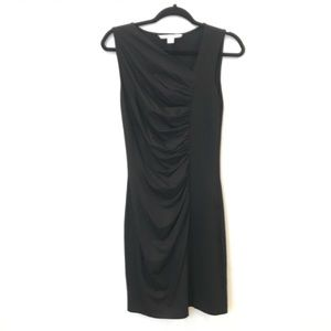 DVF 6 GLADYS Draped Ruched Stretch Jersey Dress